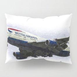 British Airways Boeing 747 Art Pillow Sham