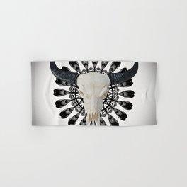 Bull Skull Mandala Hand & Bath Towel