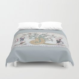 Steve, Bucky and the Hydra Duvet Cover