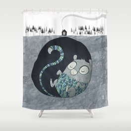 Let's bore for geothermal energy! Shower Curtain