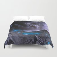 planet Duvet Covers featuring Extraterrestrial Landscape : Galaxy Planet by 2sweet4words Designs