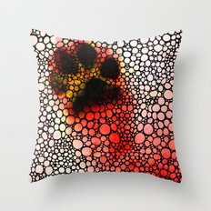 I Paw You - Stone Rock'd Dog Art By Sharon Cummings Throw Pillow