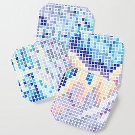 Pixelated Nebula Blue Coaster