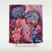vonnegut Shower Curtains featuring everything was beautiful, nothing hurt by Gabrielle Agius