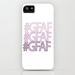Gluten Free #GFAF iPhone Case