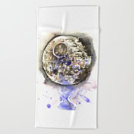 Star War Art Painting The Death Star Beach Towel