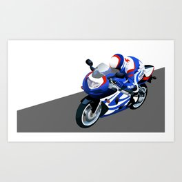 Suzuki motorcycle Art Print