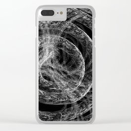Complex Mable Pattern Clear iPhone Case