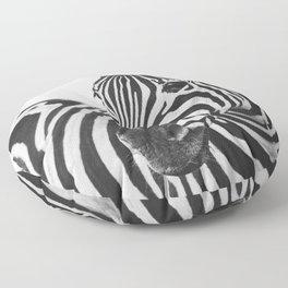 The Thoughtful Zebra Floor Pillow