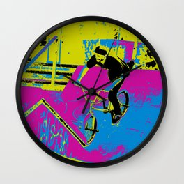 """Hitting the Ramp"" - BMX Biker Wall Clock"