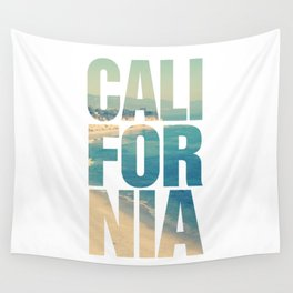 California Vintage Beach Summer Typography Wall Tapestry