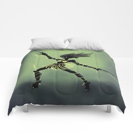 Creepy Midnight Dancing Girl Comforters