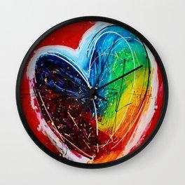 Love of colors Wall Clock