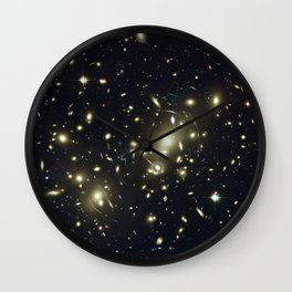 Distant galaxies, Abell 2218. Wall Clock