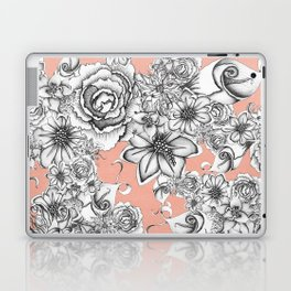 B&W Flowers Coral Laptop & iPad Skin