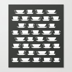 Pattern of Coffee and Tea Cups Canvas Print