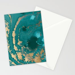 Fluid Gold Stationery Cards