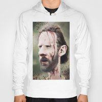 rick grimes Hoodies featuring Rick Grimes by dbruce