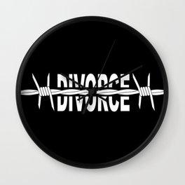 Divoeced Wall Clock
