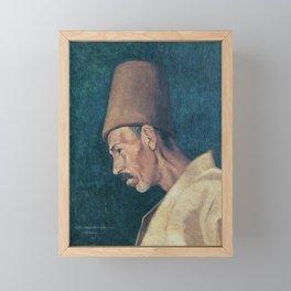 Osman Hamdi Bey Kökenoğlu Rıza Efendi Framed Mini Art Print