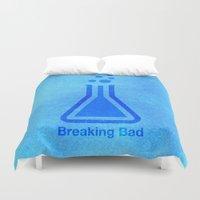 breaking bad Duvet Covers featuring Breaking Bad by Blank & Vøid