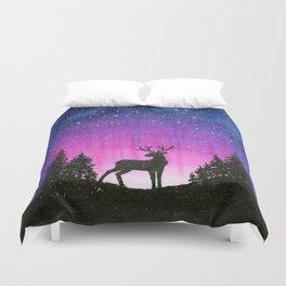 Galaxy Forest Reindeer Duvet Cover