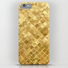 Golden Checkerboard iPhone Case