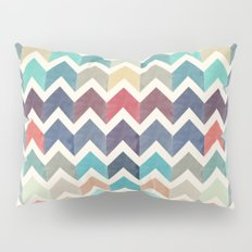 Watercolor Chevron Pattern Pillow Sham