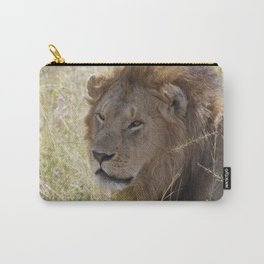 Peaceful lion face Carry-All Pouch