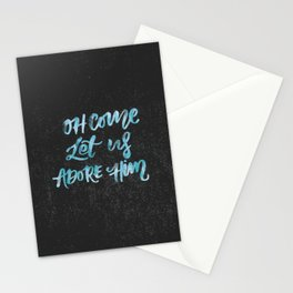 O Come Let Us Adore Him Stationery Cards