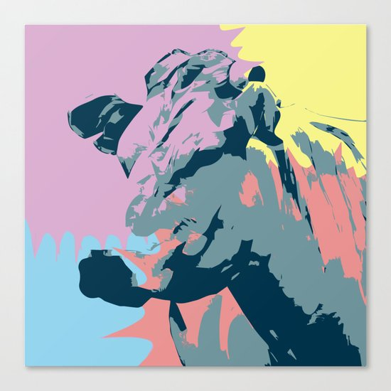 Happy Animal Canvas Print