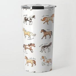 Horses - different colours and markings illustration Travel Mug