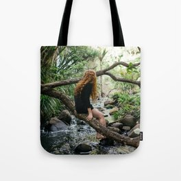Sending Thoughts Downstream Tote Bag