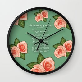 No Waivering of His love By Feon Davis Wall Clock