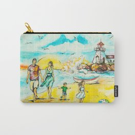 a Sunday stroll in the sea Carry-All Pouch