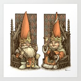 Royal Gnomes Art Print