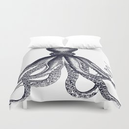 Octopus | Black and White Duvet Cover
