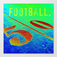 football Canvas Prints featuring FOOTBALL. by TMCdesigns