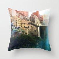manhattan Throw Pillows featuring Manhattan by Keira