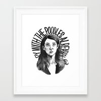 gilmore girls Framed Art Prints featuring Lorelai Gilmore by Jillian Kaye