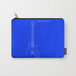 Solid Body Electric Guitar Blueprint Carry-All Pouch