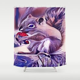 Squirrel Eating a Berry Shower Curtain