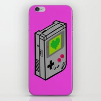 gameboy iPhone & iPod Skins featuring Gameboy Love by Artistic Dyslexia