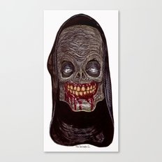 Heads of the Living Dead Zombies: Stoned Monk Zombie Canvas Print