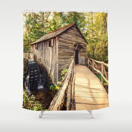 Cades Cove Grist Mill Shower Curtain