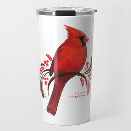 Male Cardinal Travel Mug