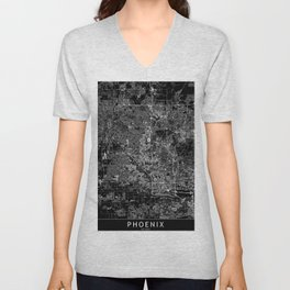 Phoenix Black Map Unisex V-Neck