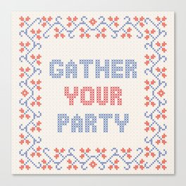 Gather Your Party Canvas Print