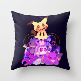Spooky Dolls Throw Pillow