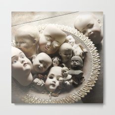 Rucus Studio Antique Doll Heads Metal Print